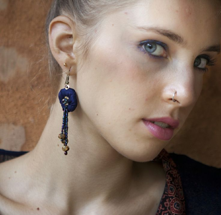 new collection of silk hand embroidered earings