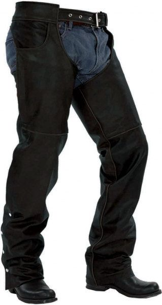 720 Basic Black Leather Chaps - Great Value for the money by AntelopeCreekLeather on Etsy