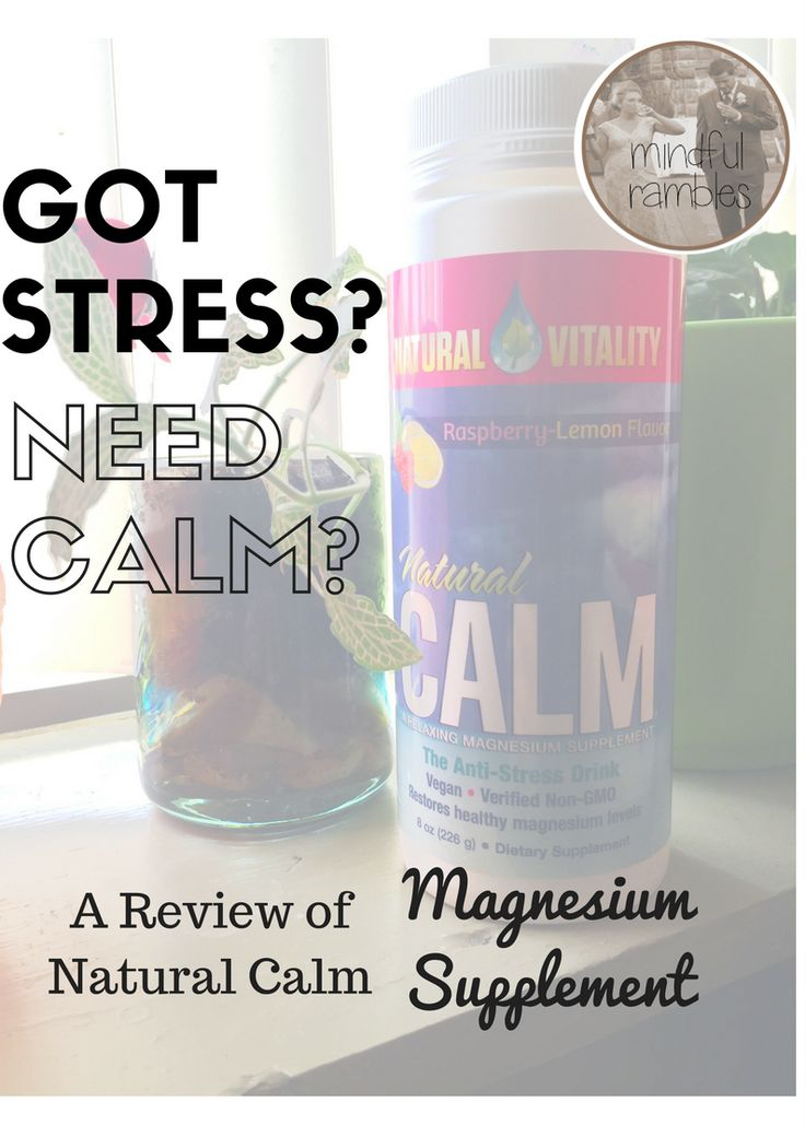 This post has been sponsored by Natural Vitality , the company who makes and distributes Natural Calm magnesium supplement. All content and...