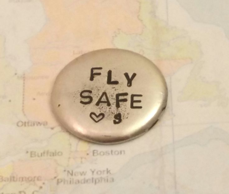 fly safe pocket coin pewter pocket pebble gift for pilot challenge coin flight school gift pilot graduation navy coin air force coin flying by TiffysLove on Etsy
