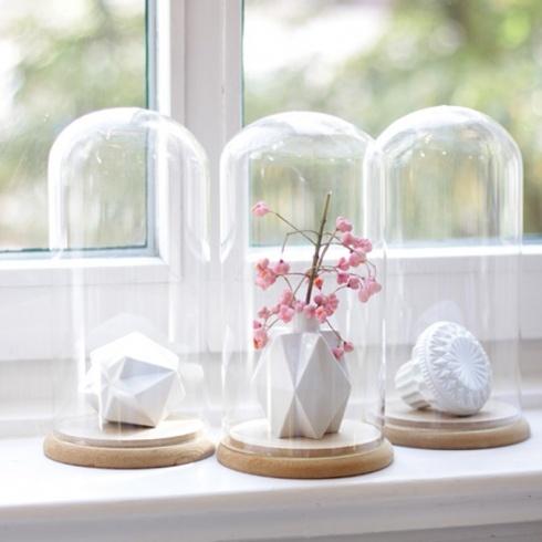 31 besten glasglocken cloches bilder auf pinterest glasglocke ostern und dekorieren. Black Bedroom Furniture Sets. Home Design Ideas