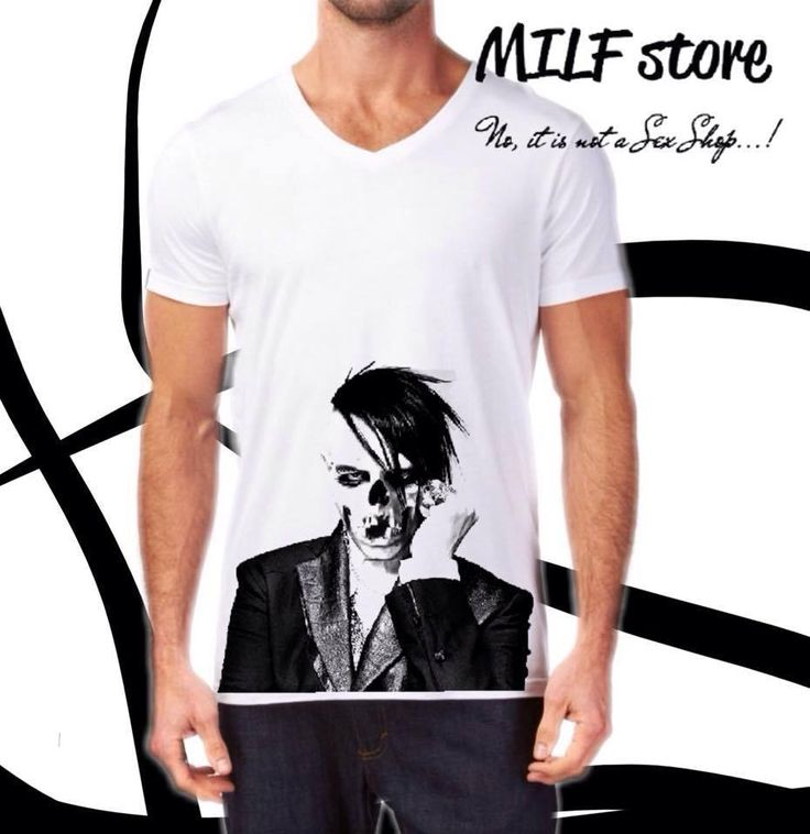 MARILYN MANSON T-Shirts, For Men & Women  #MILFstore #VNeck