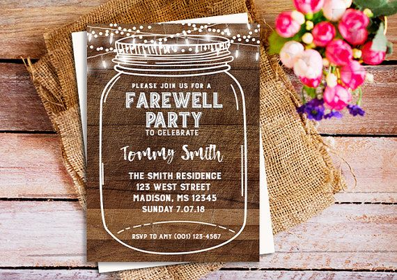 Farewell Party Invitation Farewell Invitation by HappyPartyStudio