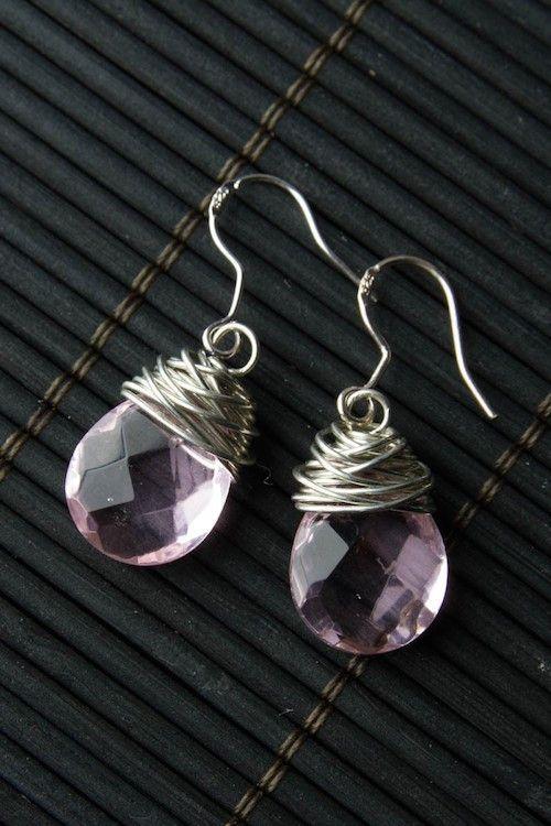 Melanie Earrings - Pink