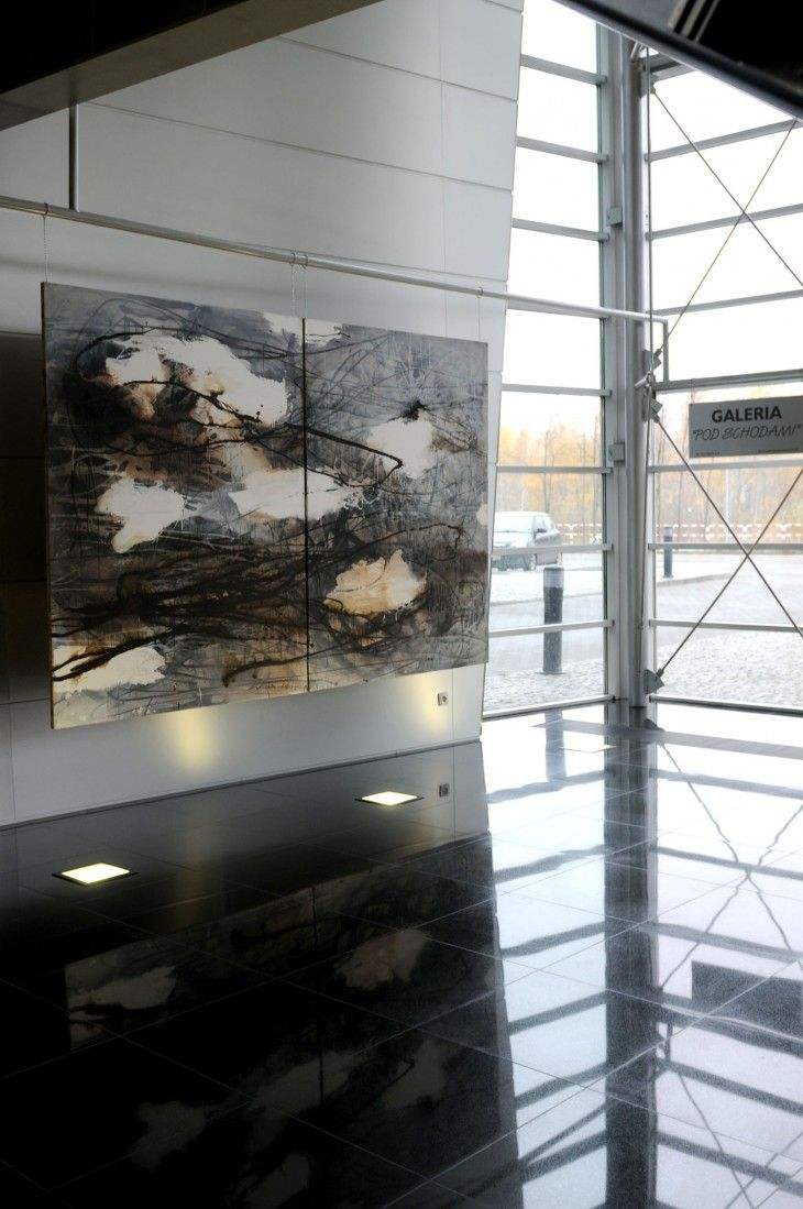 Artist Urszula Wilk – exhibition PGK Centrum Poznan 2012 – works on canvas and paper