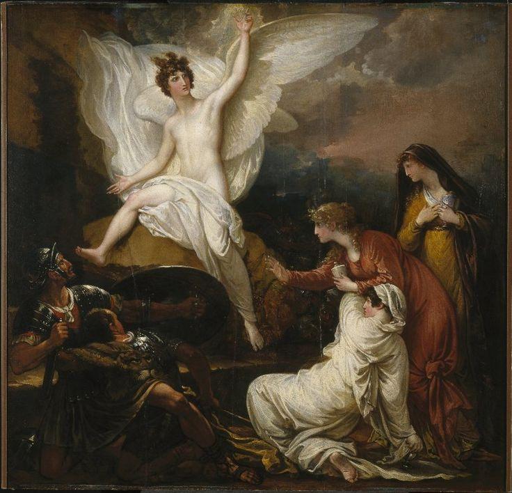 El ángel en la tumba de Cristo, de Benjamin West, c. 1805.