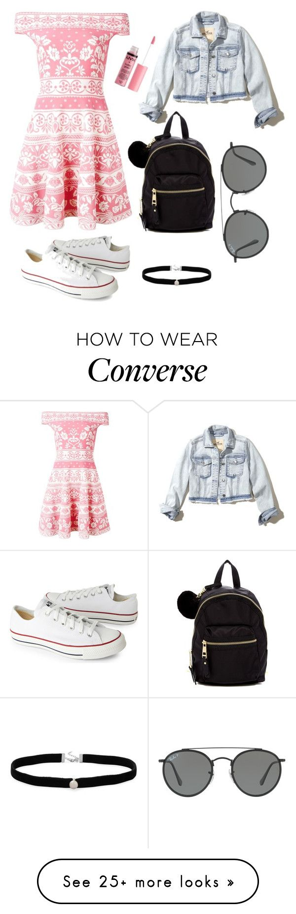 """Off the shoulder picnic"" by pollypmv on Polyvore featuring Alexander McQueen, Hollister Co., Madden Girl, Charlotte Russe, Amanda Rose Collection, Converse and Ray-Ban"