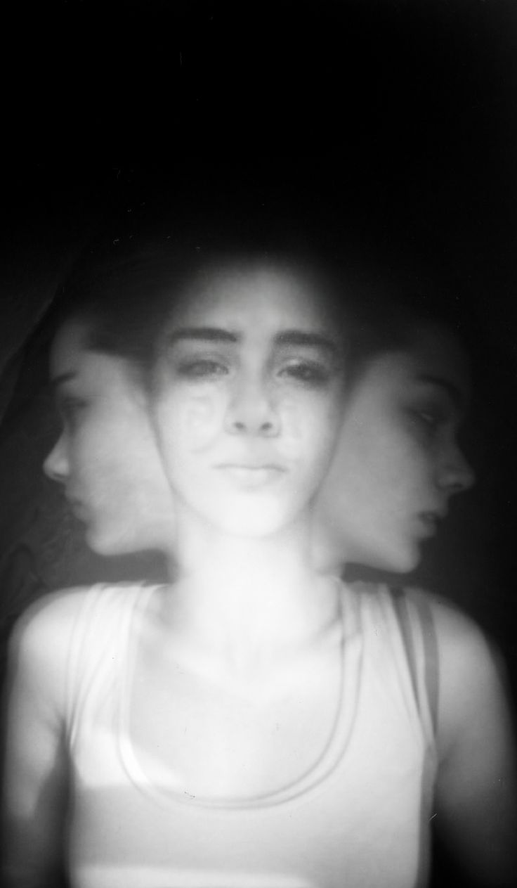 A triple-portrait taken with a pinhole camera and edited on photoshop. May 2014