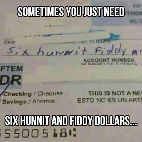 omg if I'd gotten a check like this when I worked for a bank I'd of died laughing!!!