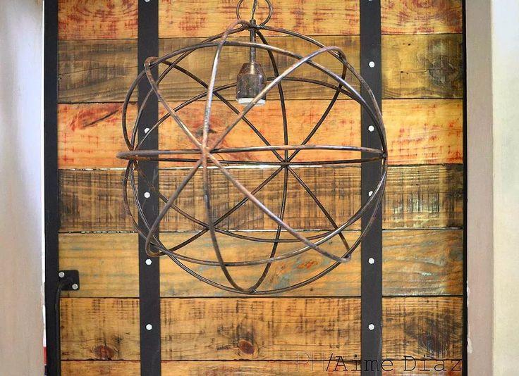 Lámpara Esfera De Hierro Forjado 80cm - Colgante - 1 Foco - $ 2.350,00 en Mercado Libre