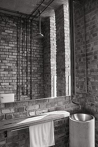 Kevin Mark Low. Britishindia offices - small projects. Brass shower. Copper pipes.