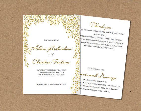 Best 25+ Wedding program template word ideas on Pinterest - program templates word