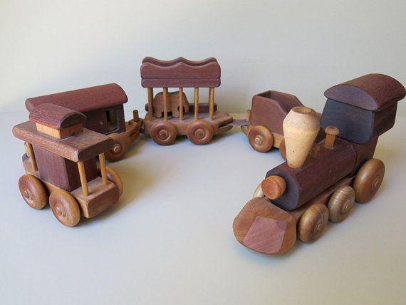 Vintage Wood Toy Train Set Merry Toymakers 397