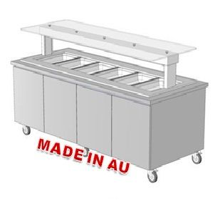 Culinaire CH.IB.T1A.3M Heated Bain Marie Island Buffet - Hot Food Display & Bain Marie - Kitchen & Catering Equipment