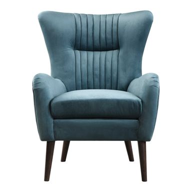 New Turquoise Leather Accent Chair