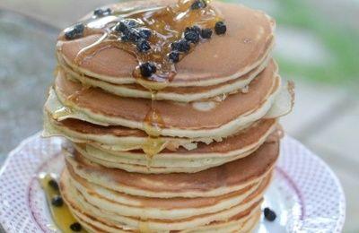 Pancakes aux Myrtilles Séchées