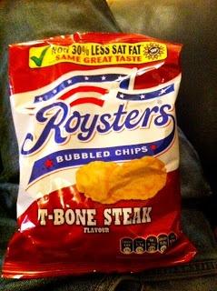 Roysters T-Bone Steak bubbled crisps