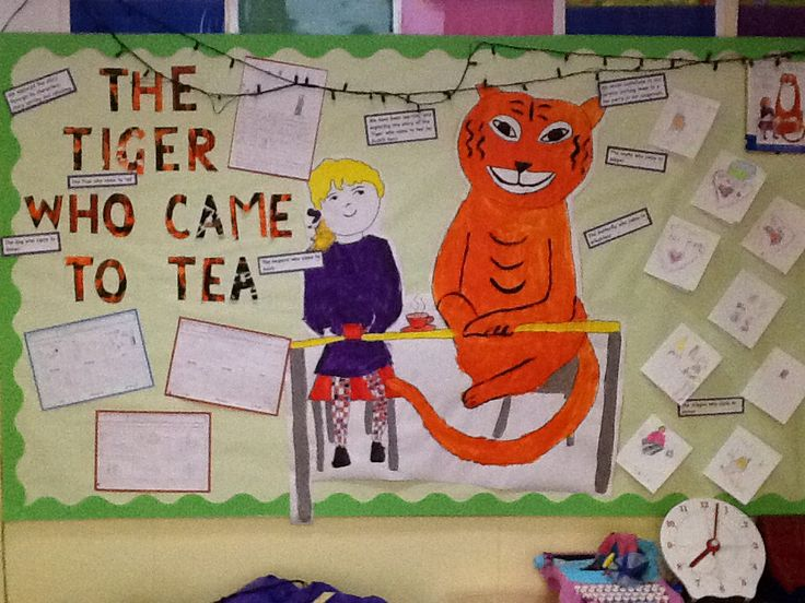 The tiger who came to tea - display board - Year 1