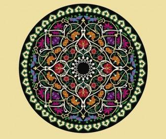 Flower Circle Ornament.  http://vectorspedia.com/free-vector/flower-circle-ornament-7571/
