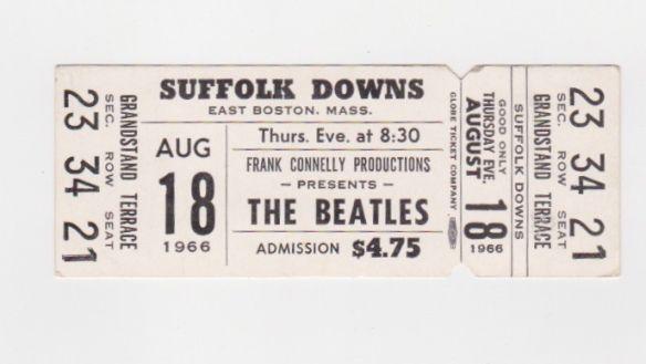 Concert Ticket stub - Beatles 1966 Concert