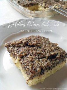 Dia gasztroblogja: Mákos krémes köles süti - egy szelet csak 83 kcal !