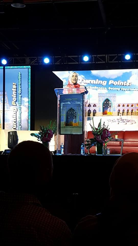 Dalia Mogahed addressing #ISNA53