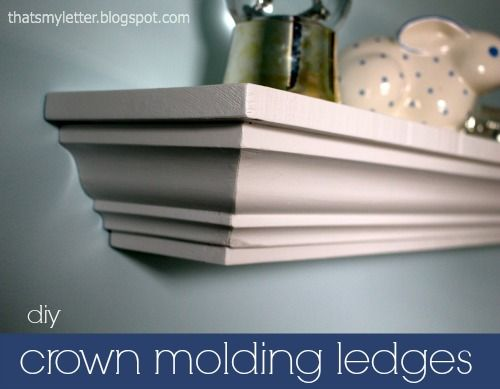 DIY Crown molding ledges at thatsmyletter.com Awesome!