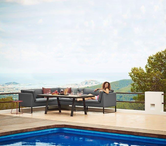 Flex Dining Lounge Sofa, Left Module, by Cane-line