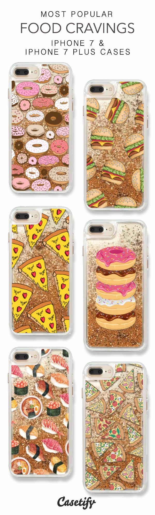 Most Popular Food Cravings iPhone 7 Cases & iPhone 7 Plus Case here >  https://www.casetify.com/en_US/collections/iphone-7-glitter-cases#/