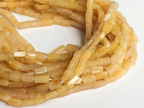 Yellow Ametrine  Yellow Ametrine Brick Beads by gemsforjewels