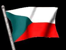Banderas Animadas de Republica Checa. Bandera Animada de Republica Checa. Imágenes o dibujos gif animados de Banderas de Republica Checa. Himno nacional de Republica Checa y Bandera Nacional