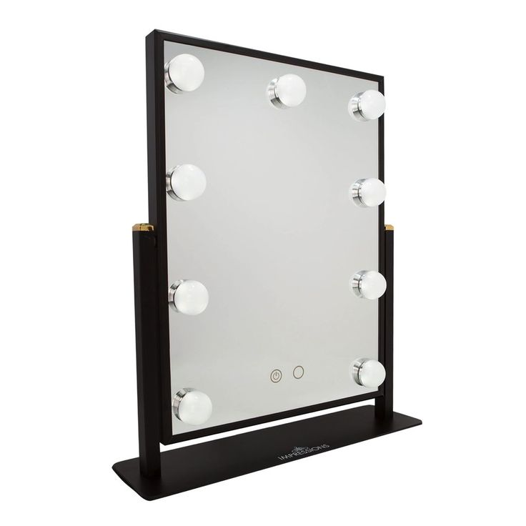 Impressions Vanity Hollywood Touch Duo-Tone LED Makeup Mirror in Black