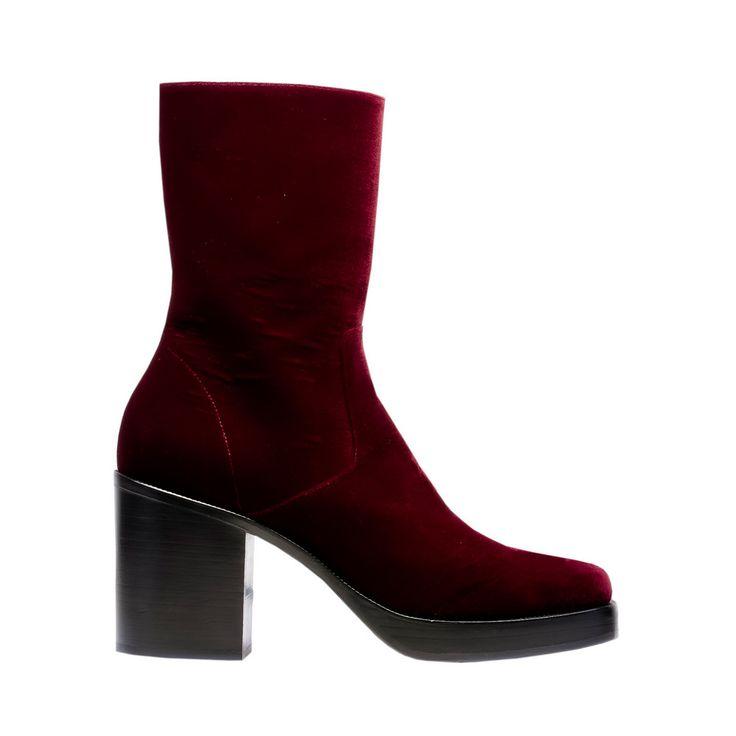 BALENCIAGA Velvet Platform Booties Altre scarpe