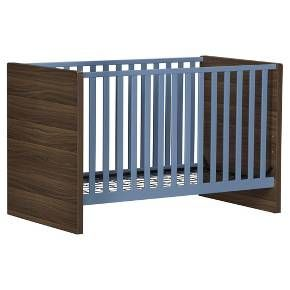Our contemporary Sierra Ridge collection is finished in a walnut woodgrain chassis with contrasting solid color finish. The European styling of the crib has wide side panels that complement the durable plywood slats finished in non-toxic, water-based paint. Adjustable mattress heights keep babies safe and easy to reach as they grow. The Sierra Ridge crib accommodates standard sized crib mattresses. Like all Little Seeds products, this purchase helps support a major environmental initiative…