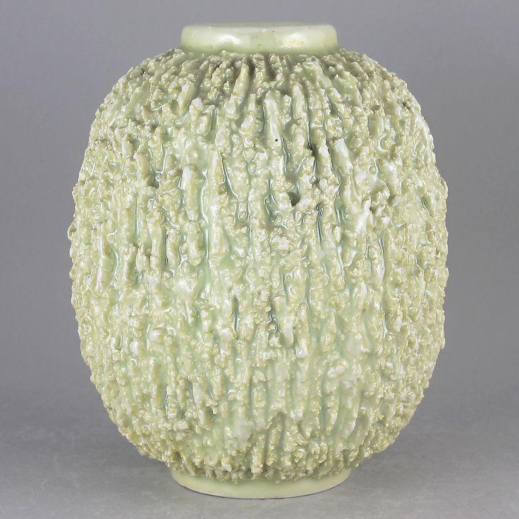 Gunnar Nylund (1936) Hypnotic Hedgehog Vase in White (Medium)