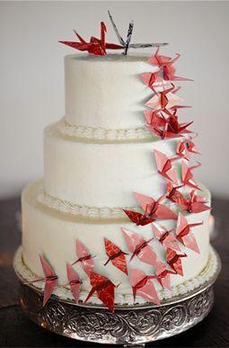 ウエディングケーキ和風 折り鶴 - Google 検索