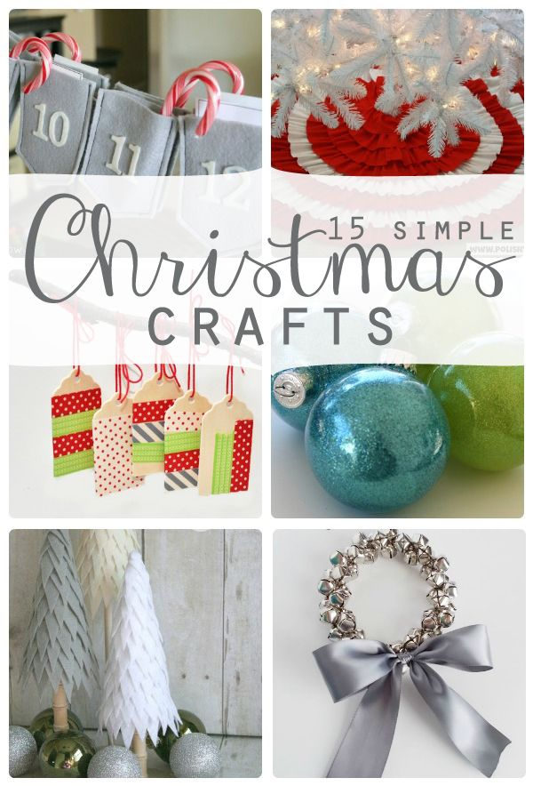15 simple and beautiful Christmas crafts from SomewhatSimple