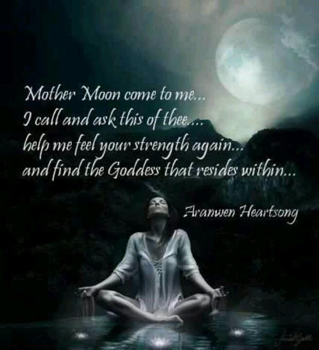 the caption says it all... #moon #luna #selene #goddess #pagan #wicca ...