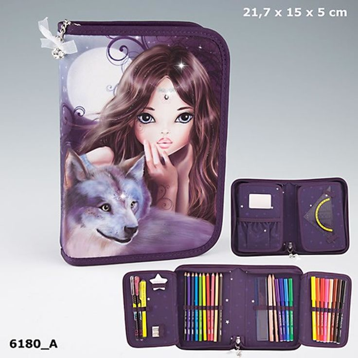 TOPModel pencil case DeLuxe with double flap and filling Fantasy buy online at Papiton.