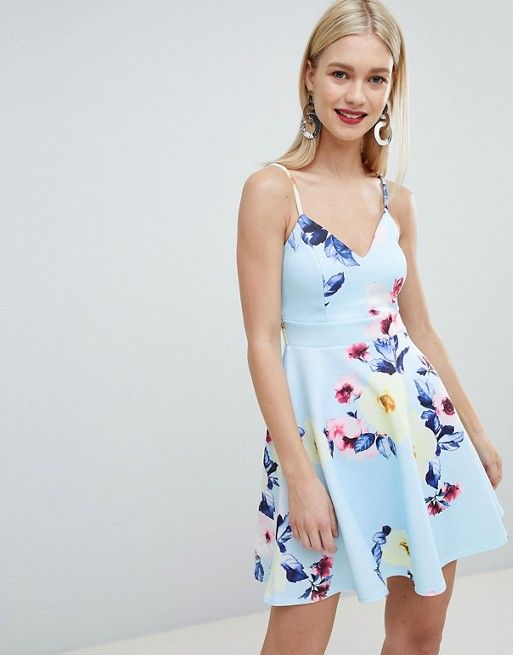 33e97655c Lipsy floral print cami skater dress in 2019   To buy - clothes ...