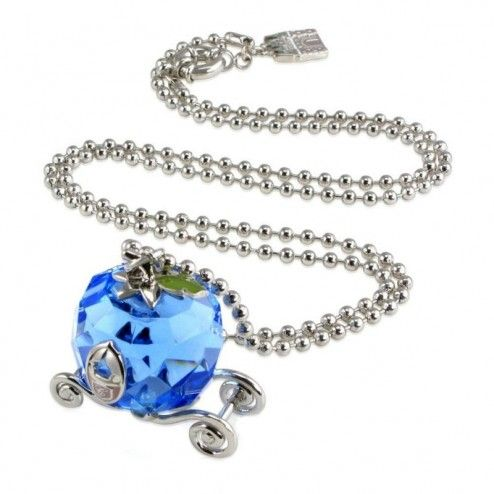 Disney Couture Cinderella Crystal Carriage Necklace