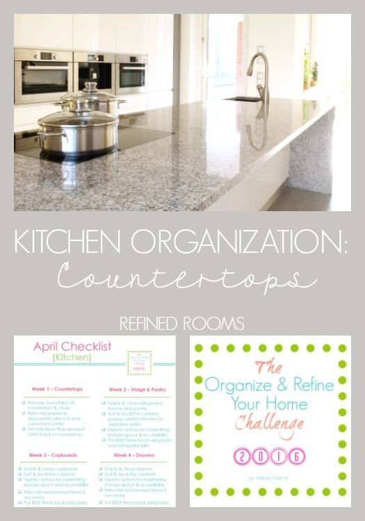 Kitchen organizing - organizing your kitchen countertops via Refined Rooms