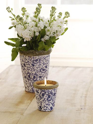 decorate pots with wallpaper?