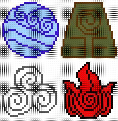 Avatar Elements perler bead pattern
