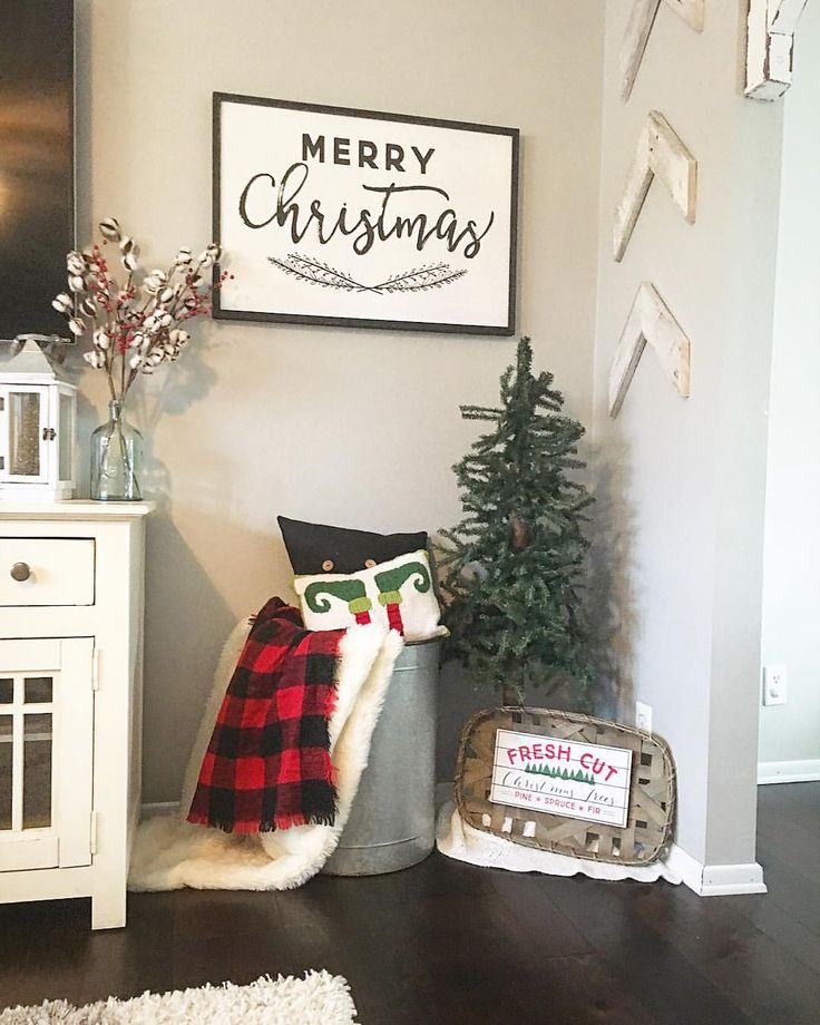 Christmas decor, living room Christmas decor, Living Room Decor, farmhouse decor…
