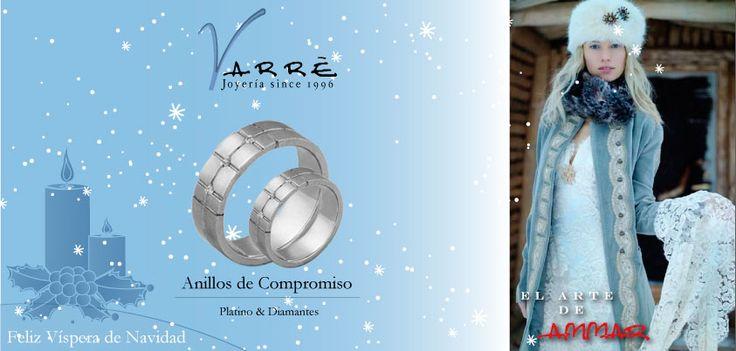 El Arte de Ammar ♥  Argollas de Matrimonio Oro & Platino / Anillos de Compromiso Platino & Diamante... Feliz Víspera de Navidad... #navidad #momentos #lunes #tbt #joyería #diciembre #amor #yonovia