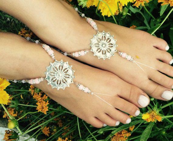 Barefoot voet juwelen sandalen hippie sandaal door BellaViaDesigns