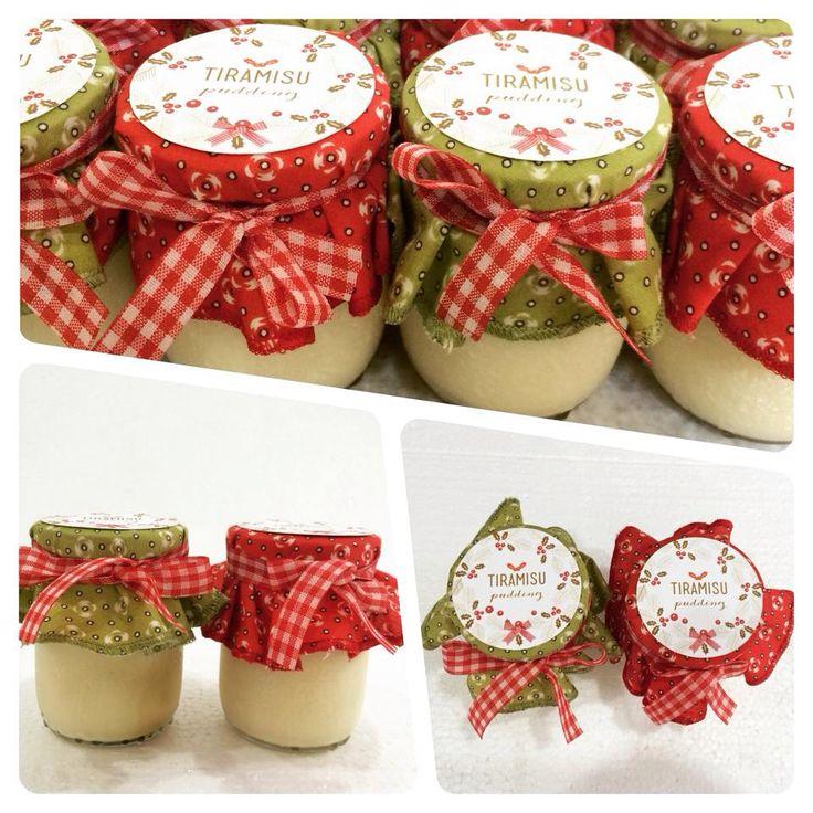 Tiramisu pudding in a jar