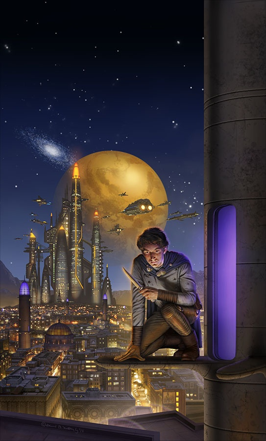 Necessity's Child final for book by Sharon Lee and Steve Miller, published in 2013. cover by David Mattingly
