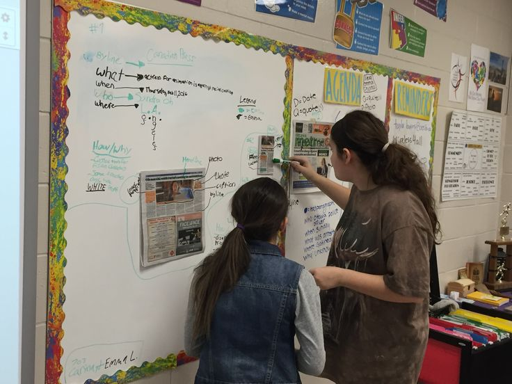 The 360 Thinking Classroom- Grade 7 Language students work in small groups to analyze and interpret newspaper articles.  They are analyzing form, content, comparing and contrasting the articles.